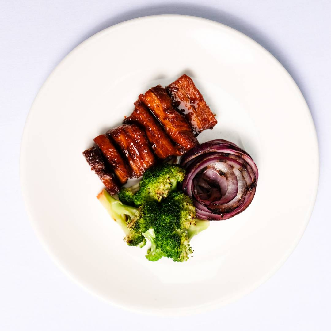 Pork Belly, Broccoli & Onions