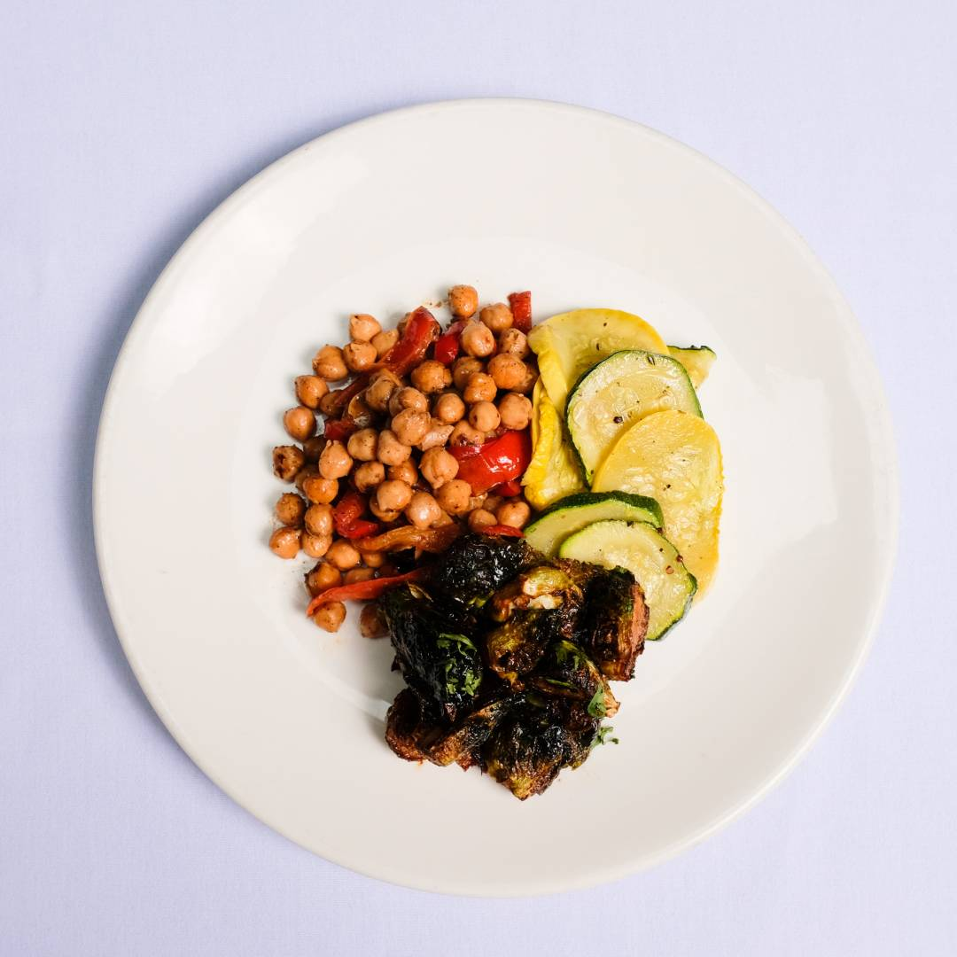 Garbanzo Beans, Squash/Zucchini & Brussels Sprouts